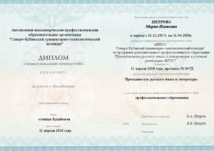 Преподаватель русского языка и литературы в условиях реализации ФГОС