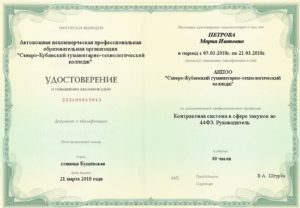 Контрактная система в сфере закупок по 44ФЗ. Руководитель