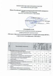 Методист образовательной организации в условиях реализации ФГОС НПИ