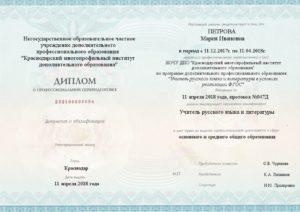Учитель русского языка и литературы в условиях реализации ФГОС